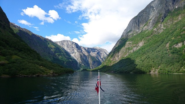 The Naeroyfjord in Norway is a UNESCO World Heritage site
