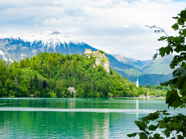 View from Bled Island, Slovenia