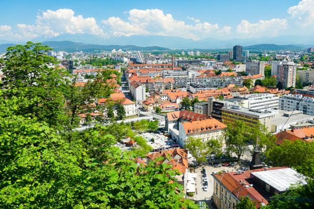 View from Ljubljana Castle, Ljubljana, Slovenia