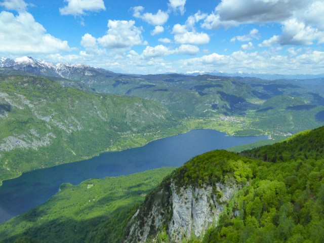 View from Vogel cable car, Lake Bohinj, Slovenia
