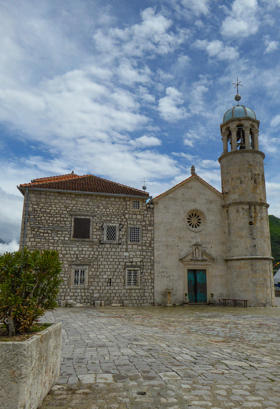 Church of Our Lady of the Rocks in the Bay of Kotor, Montenegro