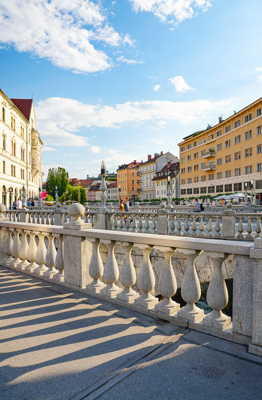 Ljubljana's Famous Triple Bridge