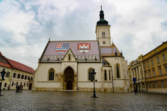 The roof of St. Mark's Church is a must-see in Zagreb
