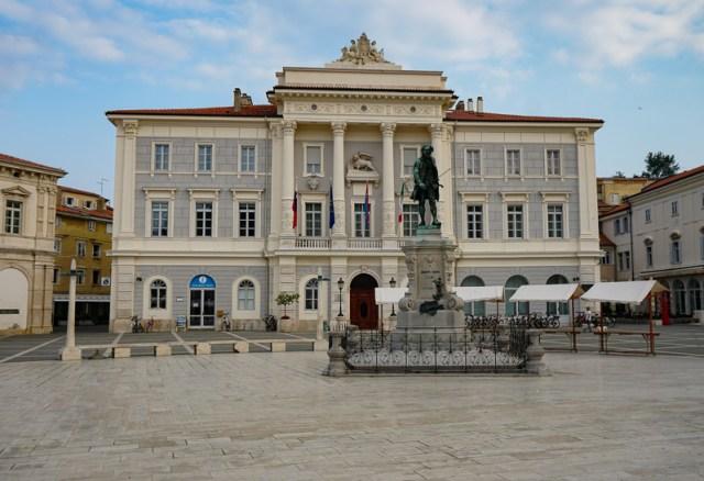 Tartini Square in Piran Slovenia