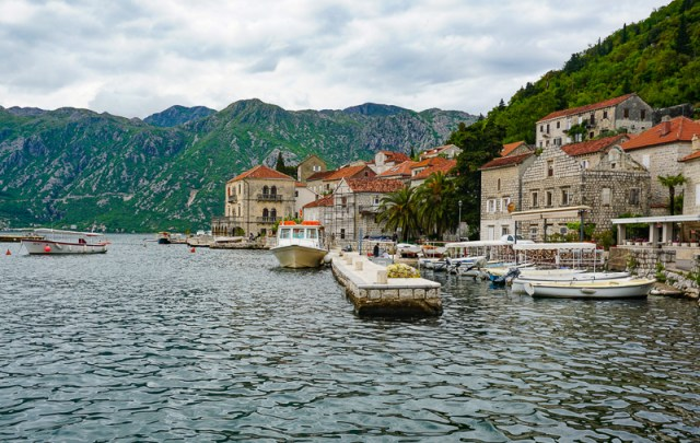 Views from the Waterfront at Perast Montenegro