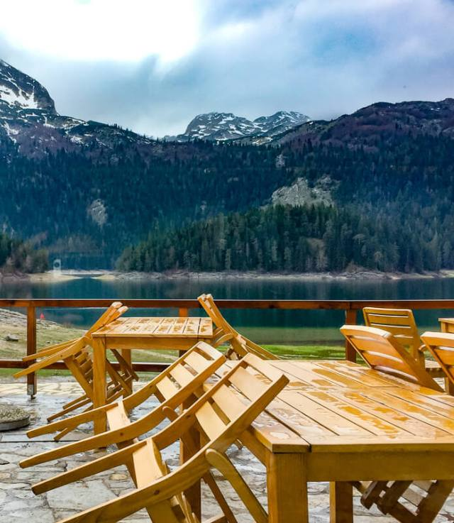 Patio at Katun Restaurant Black Lake Montenegro