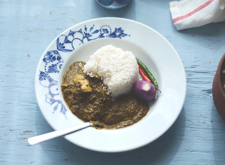 Spinach curry chicken recipe