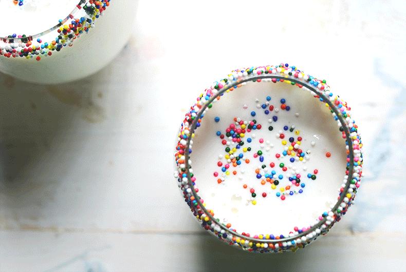 Best vanilla milkshake with sprinkles recipe