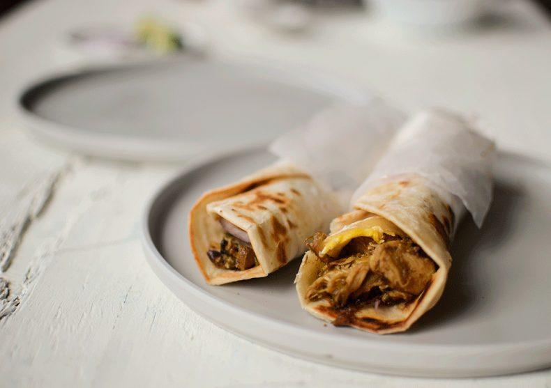 Best street style chicken rolls with leftover chicken