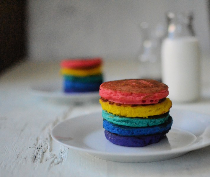 How to make the best rainbow pancakes?