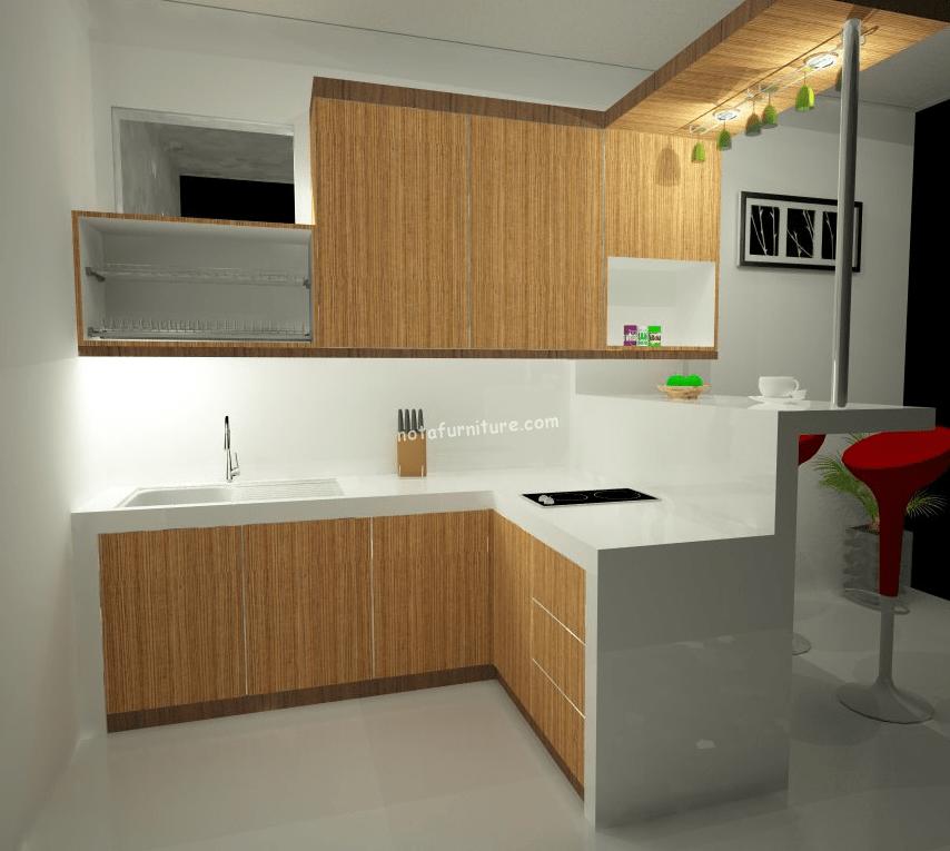 kitchen set murah dengan minibar