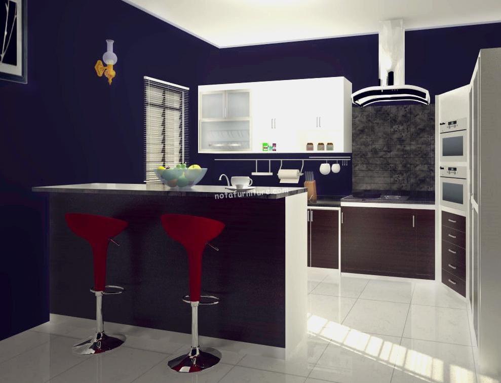 dinding dapur dark blue