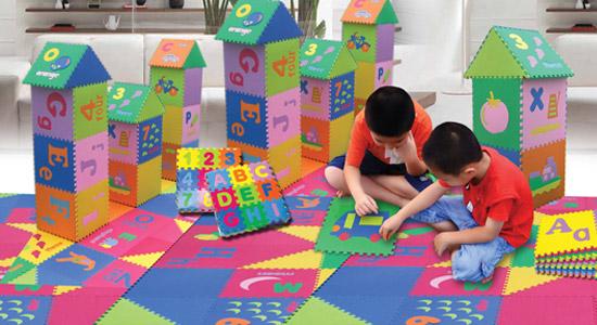 Matras Untuk Lantai Kamar Anak Membentuk Kreatifitas
