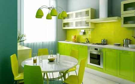 tips memilih cat untuk dapur minimalis warna hijau