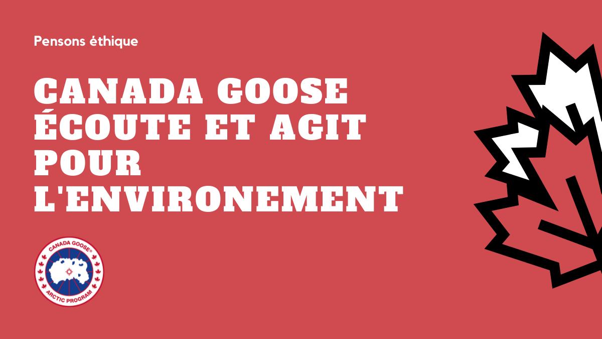 Canada Goose écoute et agit pour l'environnement