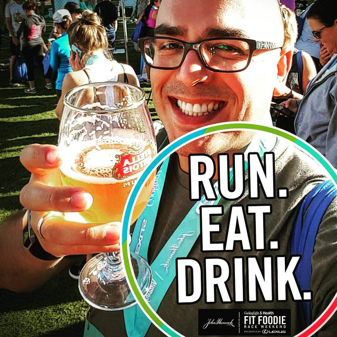 I ran my first race in over 15 years yesterday. The #FitFoodie 5K in San Diego, sponsored by @johnhancockusa - It was great. I'm feeling the pain today but I'm glad I did it. And of course, beer.  #run #fitfoodie #johnhancock #fitness #diabetes #5k #SanDiego #stellaartois