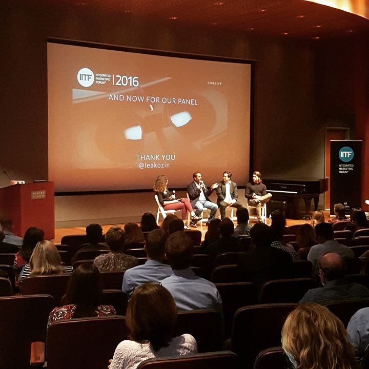 """The VR panel at The Integrated Marketing Forum #2016IMF. Insights and  revelations.  This has been around for a while... but this year, 2016 is """"year 0"""" for VR. There is content, there is accessible equipment, it's got investment and buy-in from early adopters."""