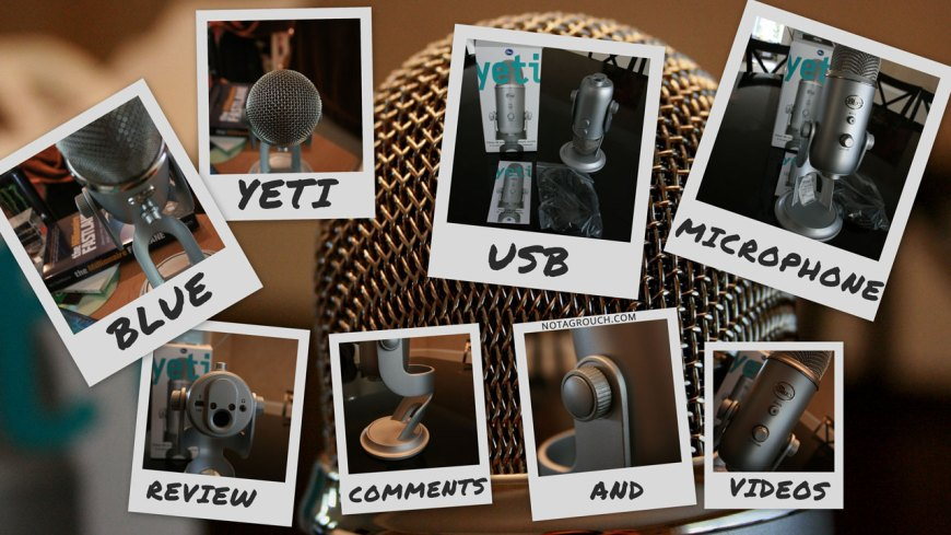Picture collage of the Blue Yeti Microphone