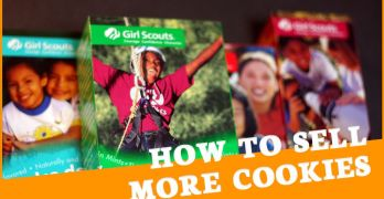 Boxes of Girl Scout Cookies and the title of the blog post