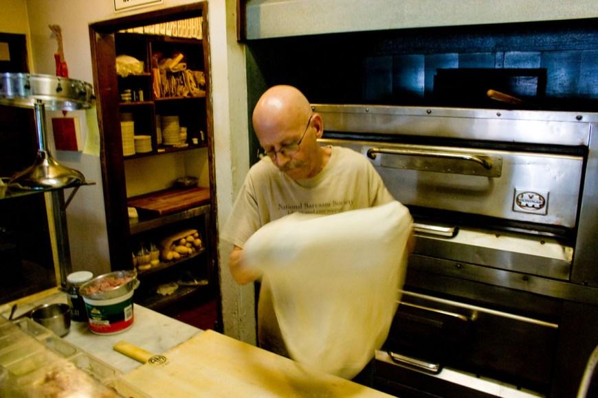 Toss the dough