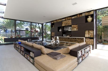 interior-fabulous-indoor-outdoor-living-spaces-with-curtain-clear-glass-window-and-wooden-furniture-design-also-with-extended-book-shelves-wonderful-landscape-outdoor-indoor-living-spaces