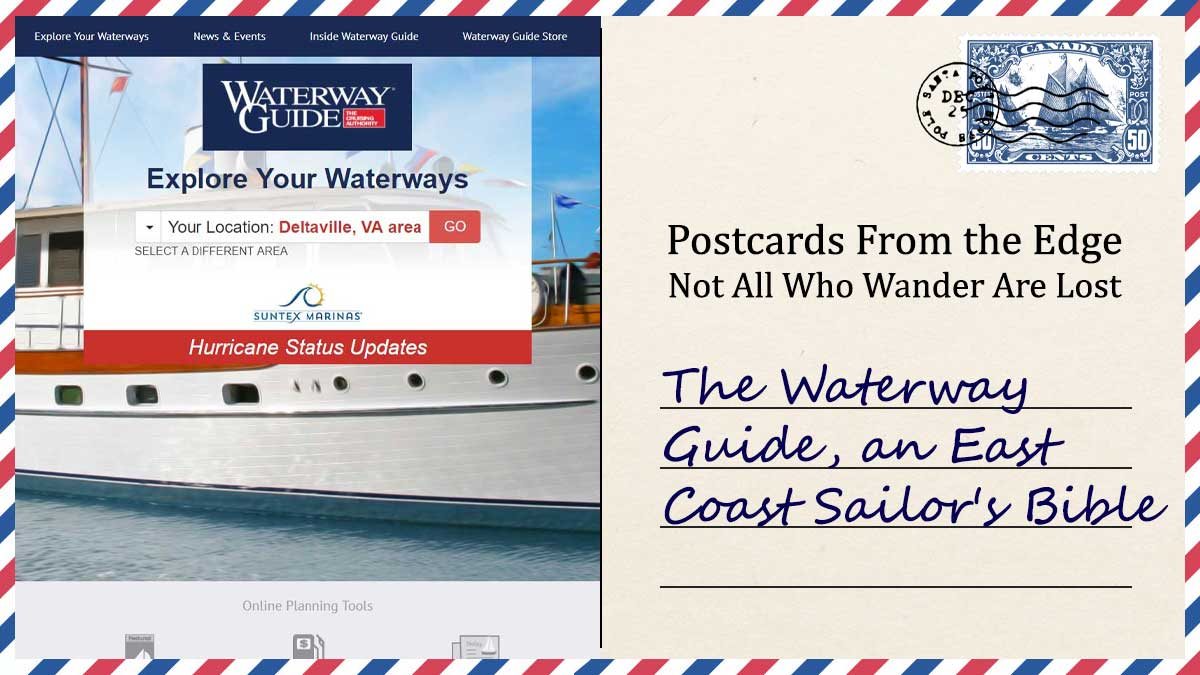 The Waterway Guide, an East Coast Sailor's Bible