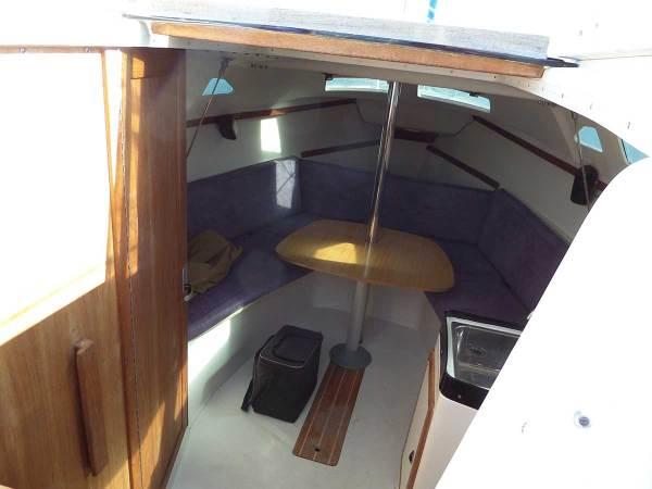 Inside a Catalina 25 Sailboat