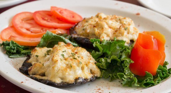 Crab and Cheese Stuffed Portobello