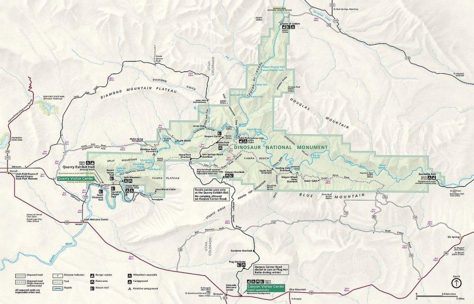 Dinosaur National Monument Map