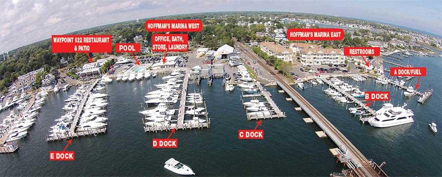 Hoffman's Marina Dock Map