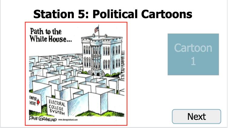 Electoral college political cartoon