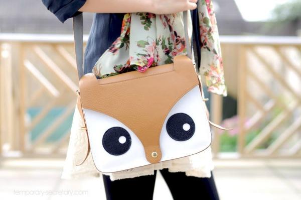 fox bag, Fearne Cotton's bag, fox satchel
