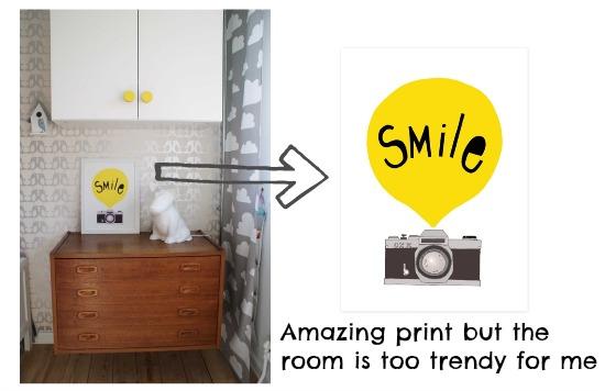 Modern Baby Smile print for kids