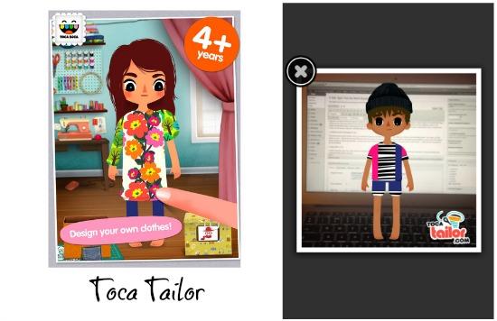 Toca Boca Tailor app