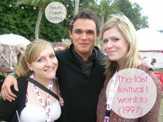 Alison Perry and Gareth Gates at festival
