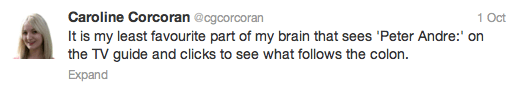 Caroline Corcoran tweet