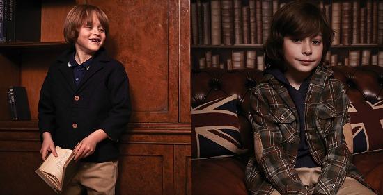 Vintage inspired boys' clothing