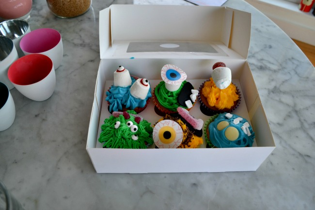 Box of monster cupcakes