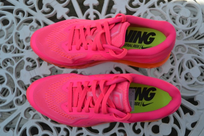 Neon pink Nike trainers