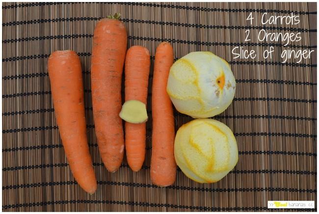 Carrot, orange and ginger