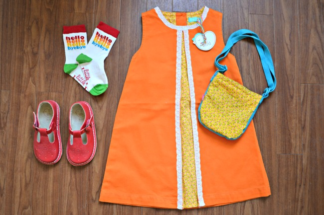 1970s style girls' dress from Little Bird by Jools