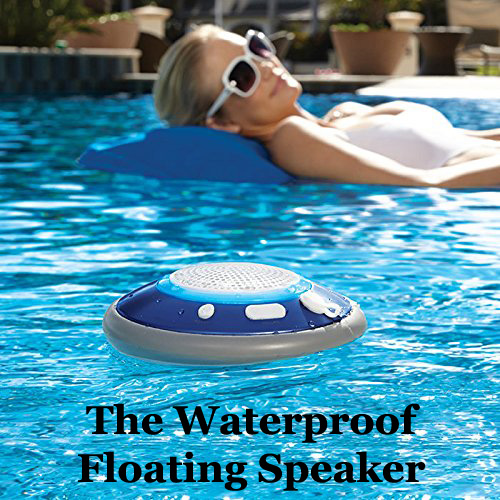 Brookstone Floating Waterproof Bluetooth Speaker - 5
