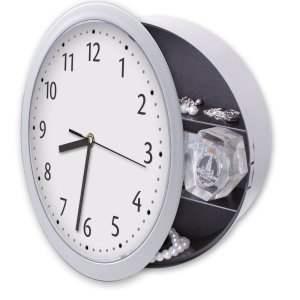 Wall Clock with Hidden Safe - 1