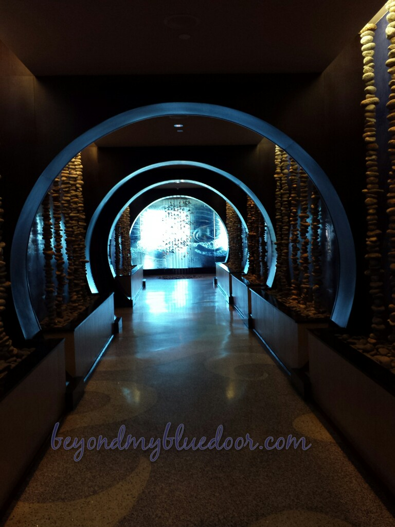 lighted tunnel in hotel in Jacksonville Florida