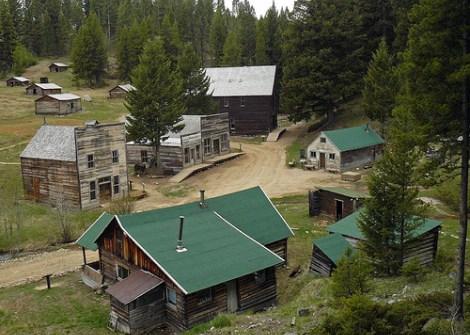 Pueblo fantasma en el estado de Montana, Estados Unidos