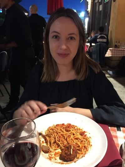 Cenando en el restaurante Cioppino's