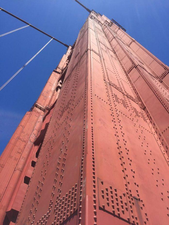 Una de las torres del Golden Gate, en San Francisco