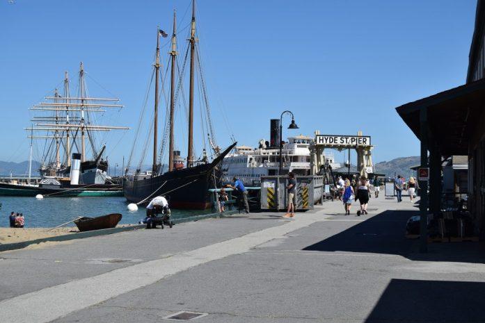 Entrada al Hyde Street Pier en San Francisco