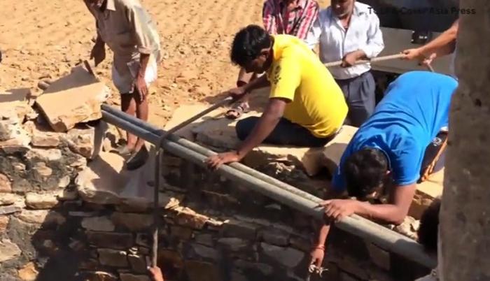 Los aldeanos ayudaron a Nandu
