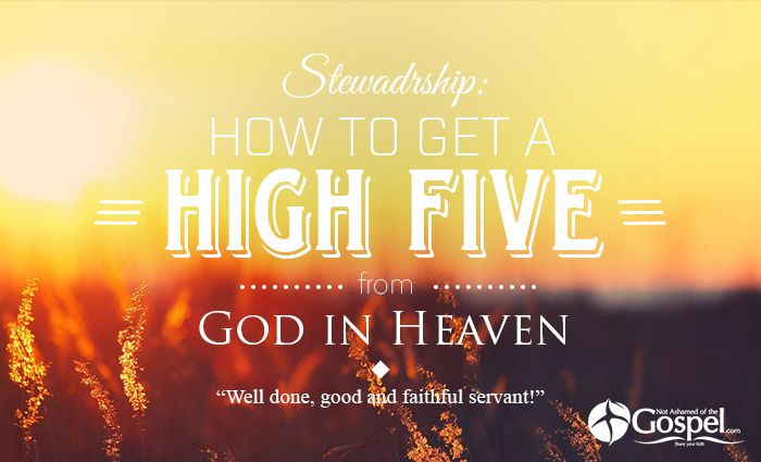 stewardship high five from God